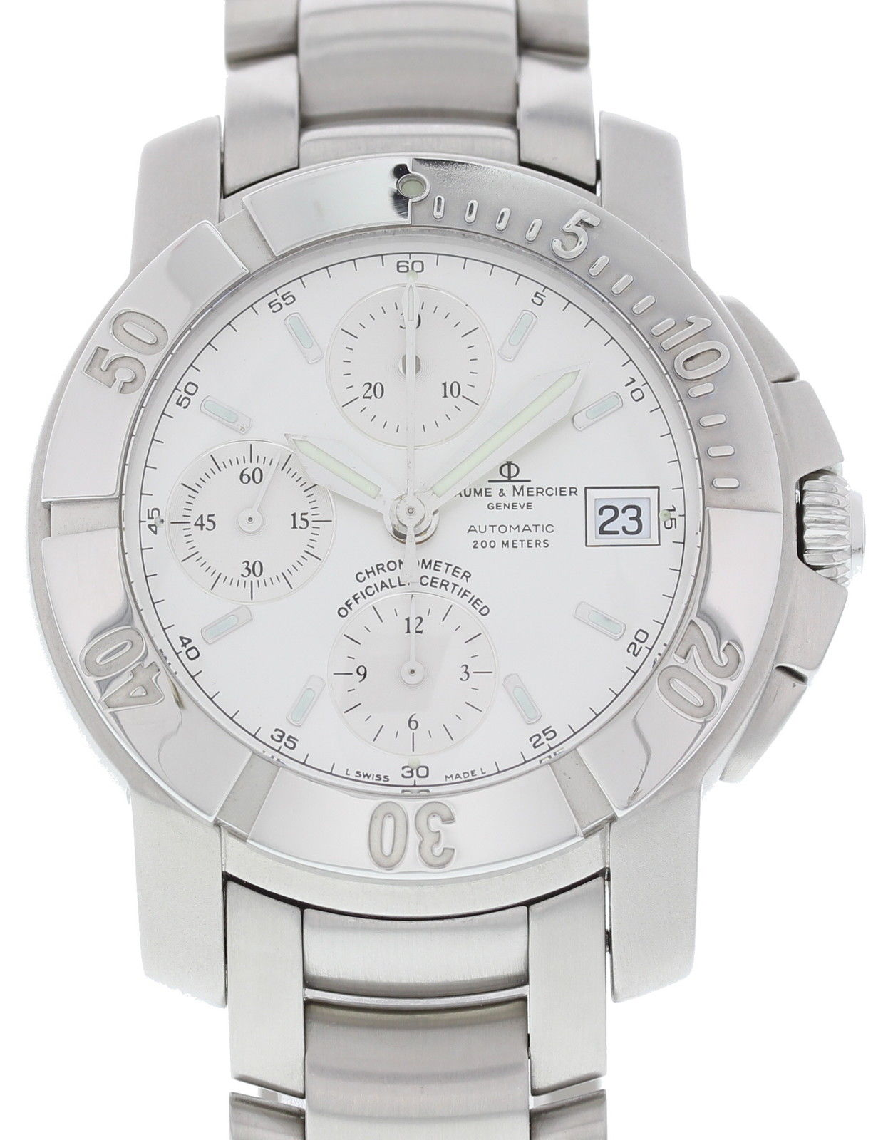 "Image of ""Baume & Mercier Capeland 65366 Stainless Steel Automatic 41mm Mens"""
