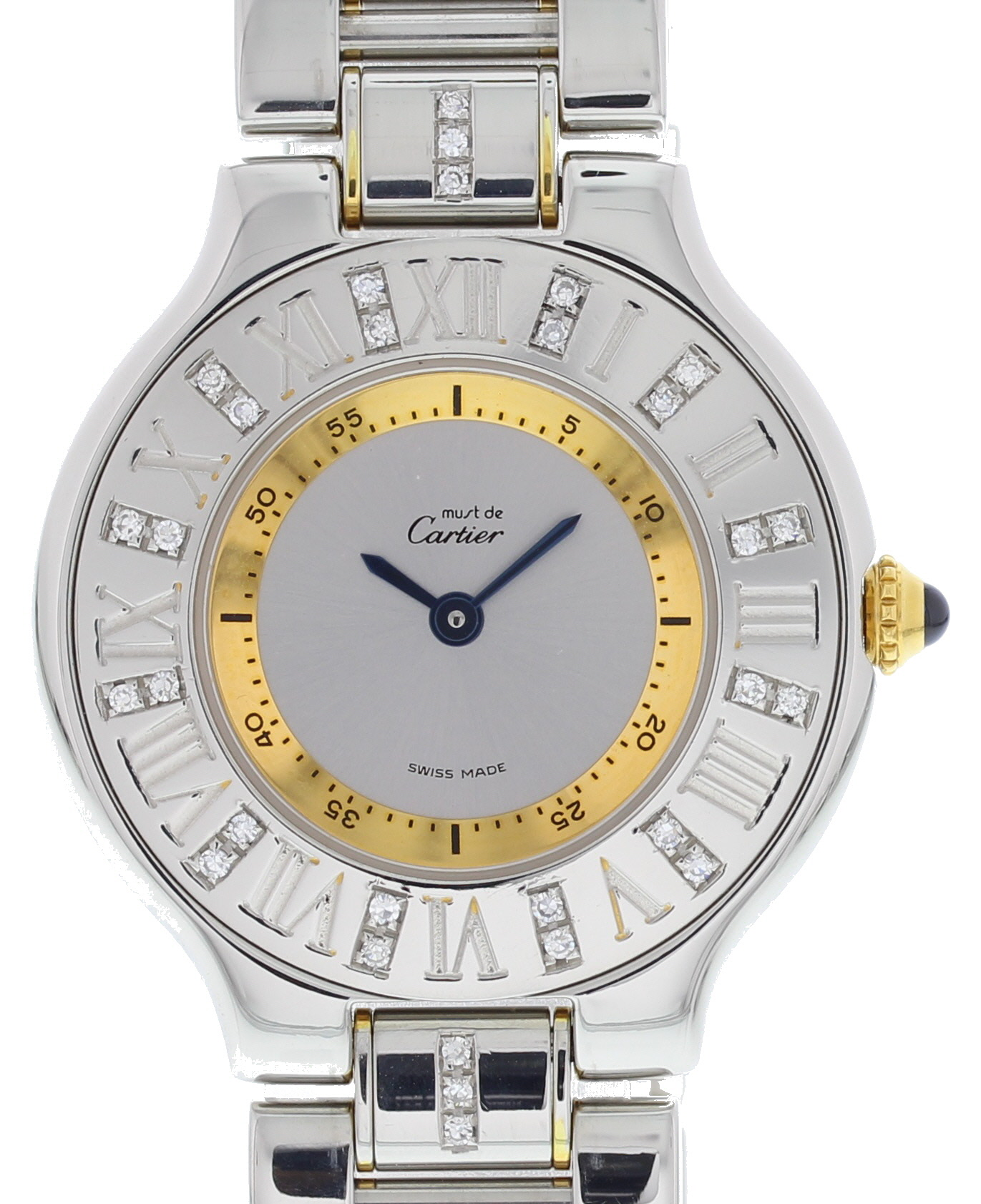 """Image of """"Cartier Must 21 1340 Stainless Steel with Silver Dial 31mm Womens"""""""