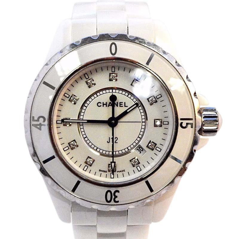 """Image of """"Chanel J12 L.d.95577 White Ceramic & Stainless Steel Quartz 33mm"""""""