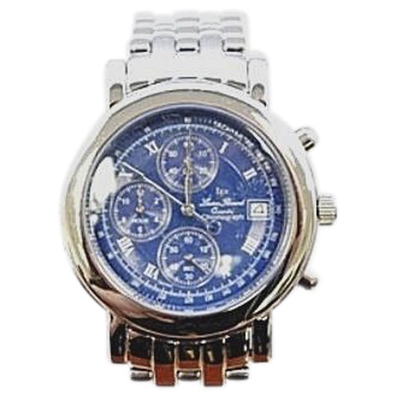 """Image of """"Lucien Piccard Chronograph Stainless Steel Blue Dial 40mm Mens Watch"""""""