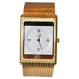 Concord 18K Yellow Gold with White Dial 23mm Mens Watch