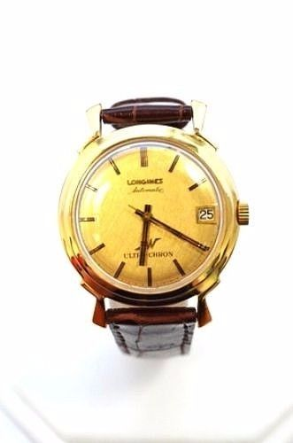 "Image of ""Longines 14K Gold Ultra-Chron Automatic Date 34mm Mens Vintage Watch"""