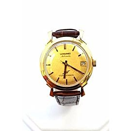 Longines 14K Gold Ultra-Chron Automatic Date 34mm Mens Vintage Watch