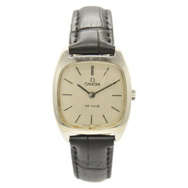 Omega De Ville Stainless Steel / Leather with Silver Dial 25mm Womens Watch