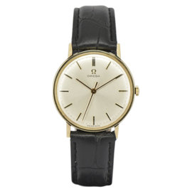 Omega Gold Plated with Silver Dial 33mm Mens Watch