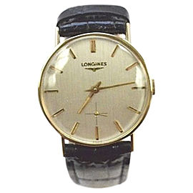 Longines 14K Yellow Gold Dress 30mm Mens Vintage Watch