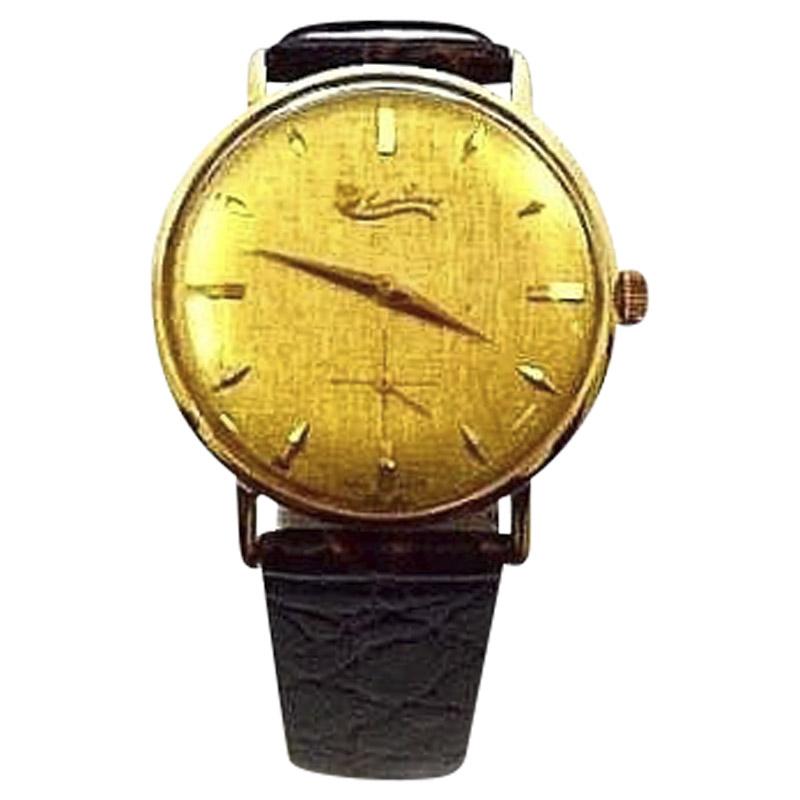 "Image of ""Lucien Piccard 18K Solid Gold Manual 32mm Mens Vintage Dress Watch"""