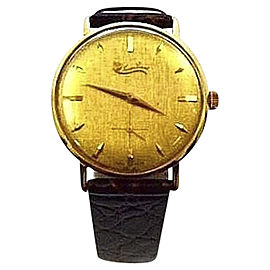 Lucien Piccard 18K Solid Gold Manual 32mm Mens Vintage Dress Watch