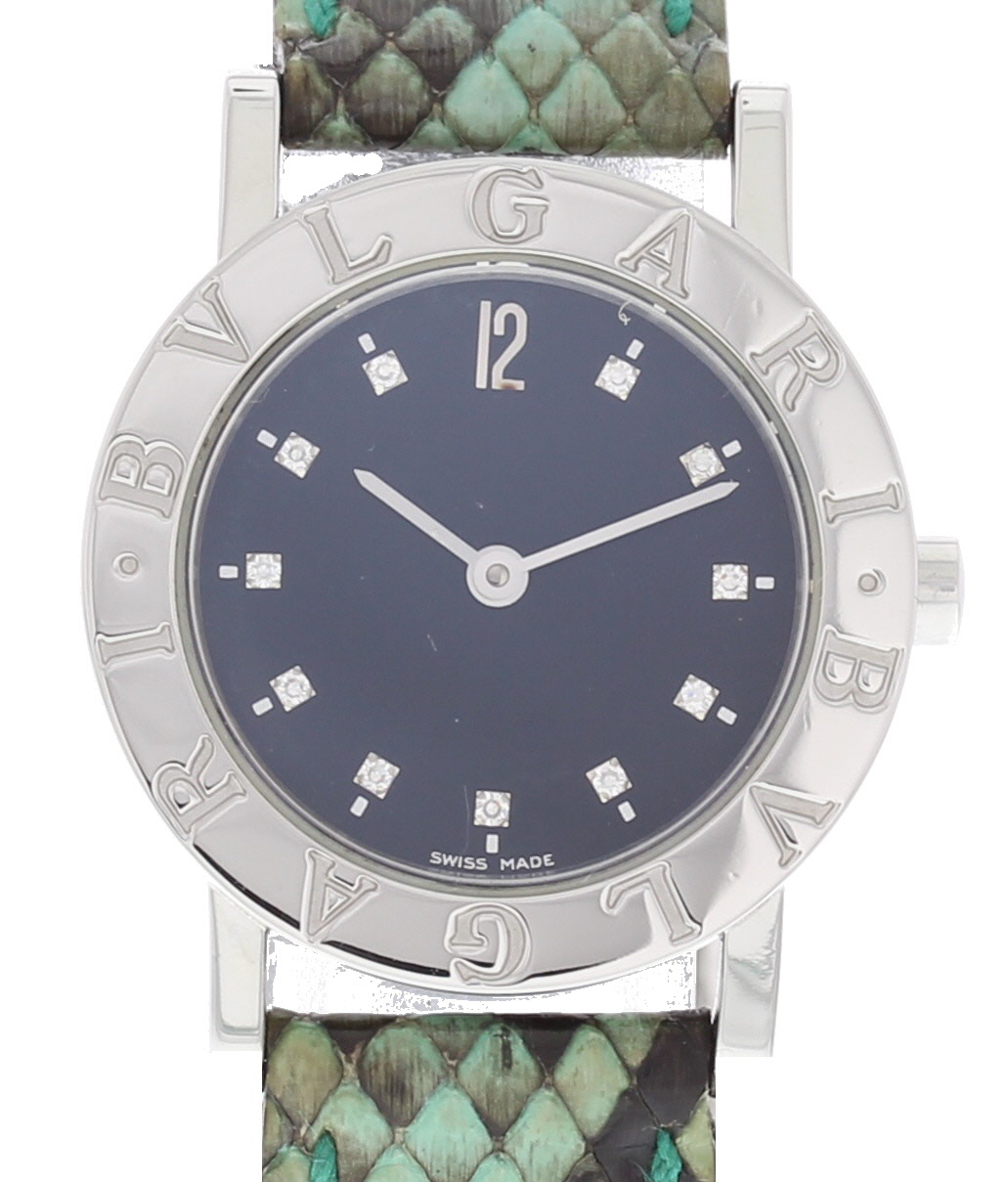 "Image of ""Bulgari Bb26Sld Stainless Steel & Leather Quartz 26mm Womens Watch"""