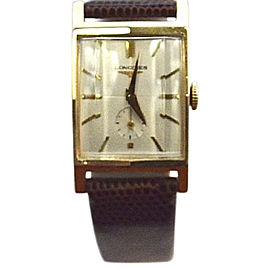 Longines 14K Yellow Gold Dress 22mm Mens Vintage Watch