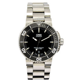 Oris Aquis Date Stainless Steel with Black Dial 44mm Mens Watch