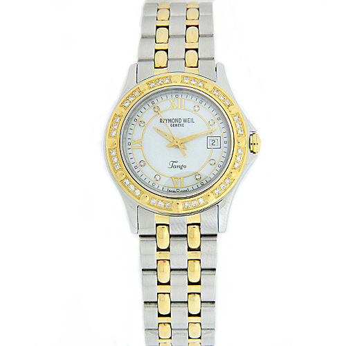 "Image of ""Raymond Weil Tango Mother Of Pearl Dial Diamond Stainless Steel Quartz"""