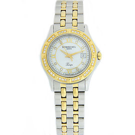 Raymond Weil Tango Mother Of Pearl Dial Diamond Stainless Steel Quartz 29mm Womens Watch
