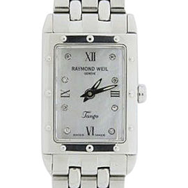 Raymond Weil Tango 5971 Stainless Steel Mother Of Pearl Dial 30mm Womens Watch