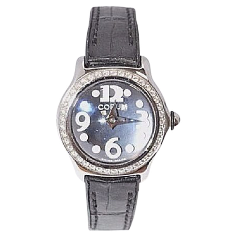 """Image of """"Corum Bubble 101.151.47 Stainless Steel and Leather Diamond Bezel"""""""