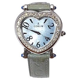 Corum Heart Beat 24.183.47 Stainless Steel Diamond Bezel 30mm Womens Watch