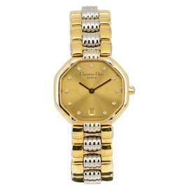 Christian Dior 48.133 Gold Plated 25mm Womens Watch