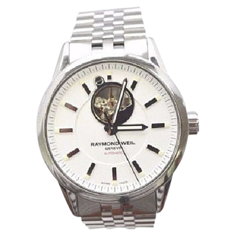 "Image of ""Raymond Weil 2710 Stainless Steel with White Dial 42mm Mens Watch"""