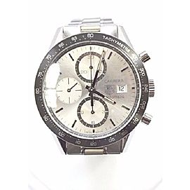 Tag Heuer Carrera CV2011.LG1240 Stainless Steel with White Dial 41mm Mens Watch