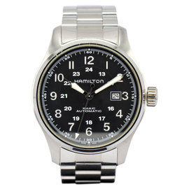 Hamilton Khaki H706250 Stainless Steel with Black Dial 44mm Mens Watch
