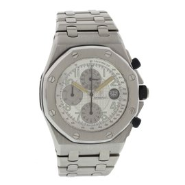 Audemars Piguet Royal Oak Off Shore Stainless Steel Silver Dial Automatic 44mm Mens Watch
