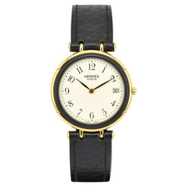 Hermes Profile Gold Plated / Stainless Steel with Silver Dial 31mm Mens Watch