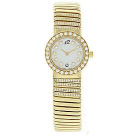 Bulgari Tubogas BB232T 18K Yellow Gold 23mm Womens Watch