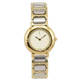 Yves Saint Laurent 2200-229789Y Stainless Steel / Gold Plated with White Dial 24mm Womens Watch