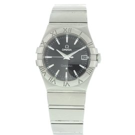 Omega Constellation 123.10.35.60.01.001 Stainless Steel Black Dial Quartz 36mm Mens Watch