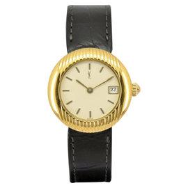 Yves Saint Laurent Quartz Gold Plated & Leather Quartz 27mm Women's Watch