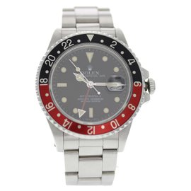 Rolex GMT Master 16760 Stainless Steel Coke Bezel Black Dial Automatic 40mm Mens Watch