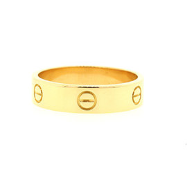Cartier 18K Yellow Gold Love Band Ring Size 12.25