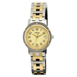 Hermes Clipper CL4.220 Stainless Steel & Gold Plated 24mm Womens Watch