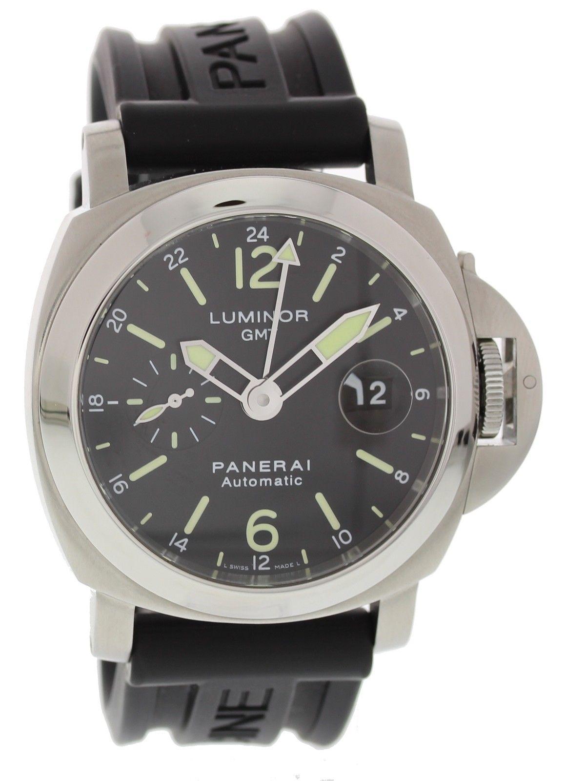 "Image of ""Panerai Luminor GMT Pam297 Stainless Steel 44mm Mens Watch"""