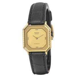 Rado Florence 133.3360.2 Gold Plated / Leather Vintage 23mm Womens Watch