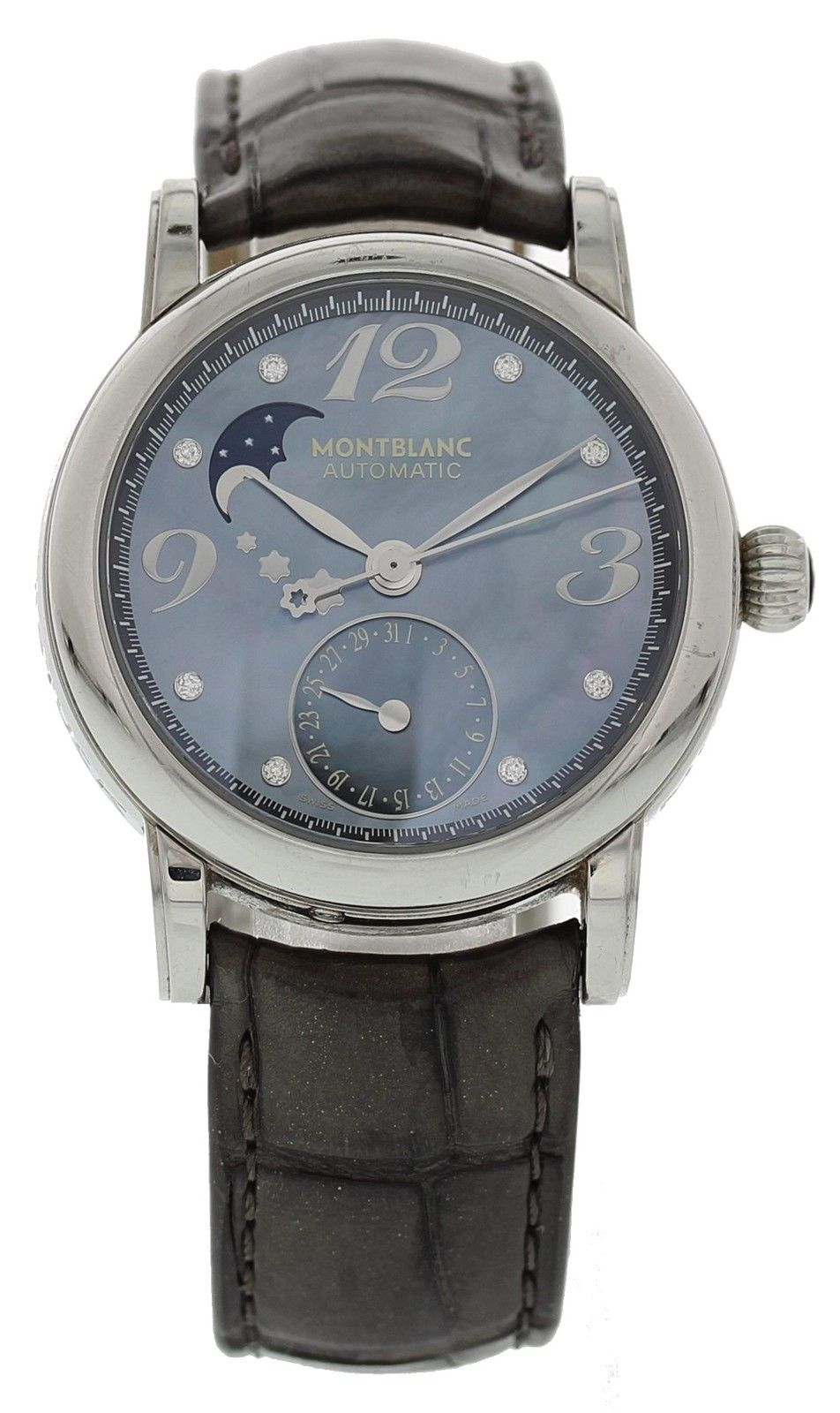 "Image of ""Montblanc Meisterstuck 7109 Stainless Steel & Leather Automatic 35mm"""
