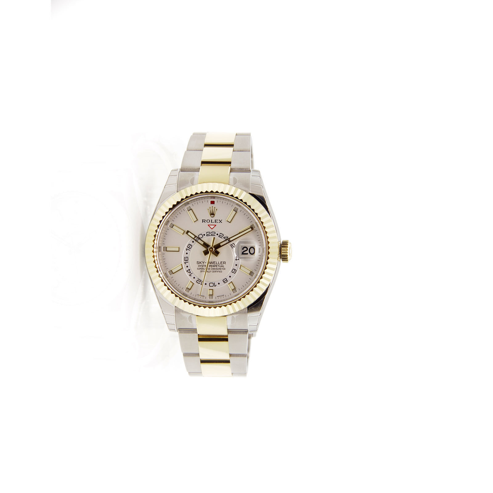 "Image of ""Rolex Sky Dweller 326933 Stainless Steel & 18K Yellow Gold White Dial"""