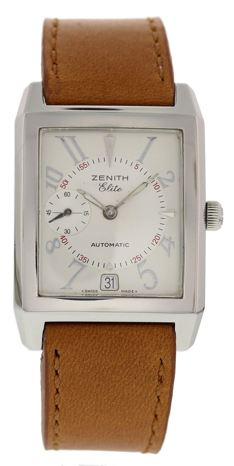 """Image of """"Zenith Elite 01.0250.684 Stainless Steel & Leather Automatic 31mm Mens"""""""