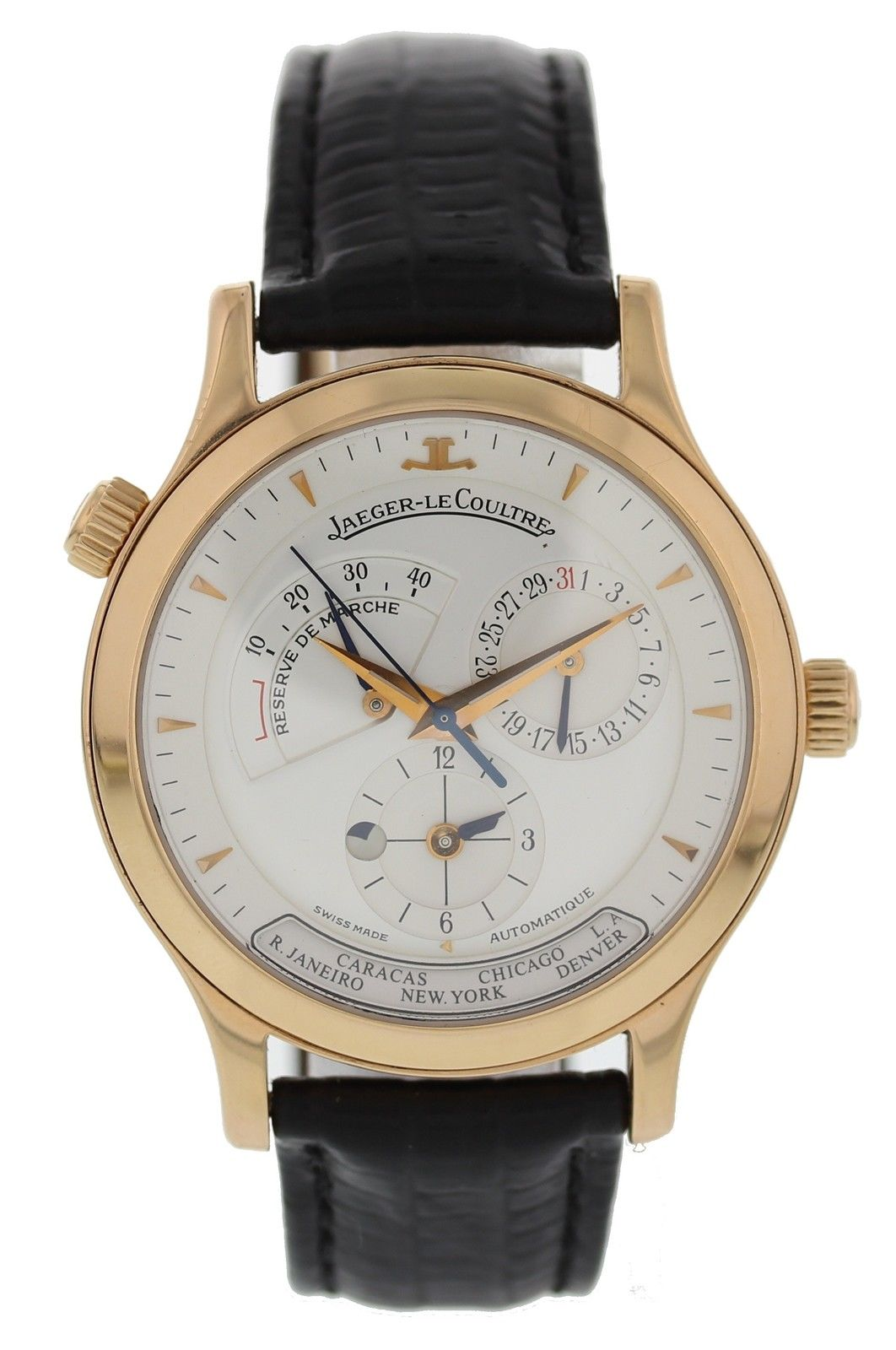 "Image of ""Jaeger LeCoultre Master Control Geographic 142.2.92 18K Rose Gold 38mm"""