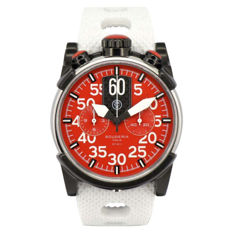 """Image of """"CT Scuderia Ct-011 Chronograph Stainless Steel Quartz 44mm Mens Watch"""""""