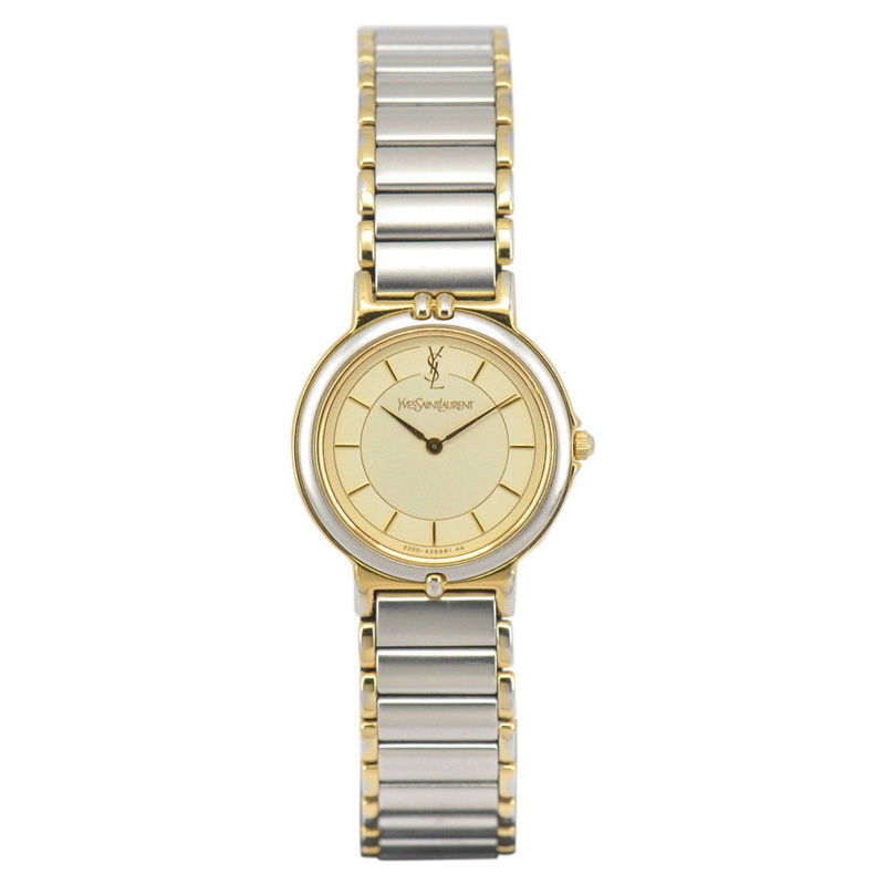 "Image of ""Yves Saint Laurent 2200-228481 TA Stainless Steel / Gold Plated 23mm"""