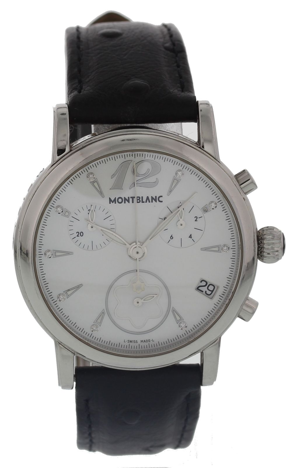 "Image of ""Montblanc Meisterstuck 7020 Stainless Steel & Leather Quartz 36mm"""