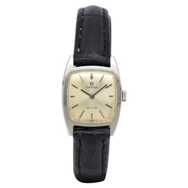 Omega De Ville Stainless Steel & Leather Hand-Winding Vintage 20mm Womens Watch
