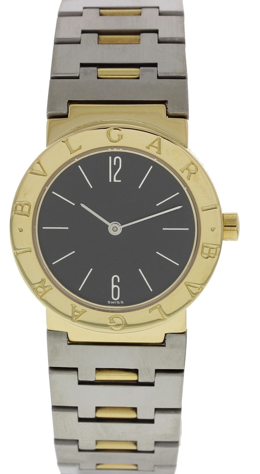 "Image of ""Bulgari Diagono A5013 18K Yellow Gold & Stainless Steel Quartz 30mm"""