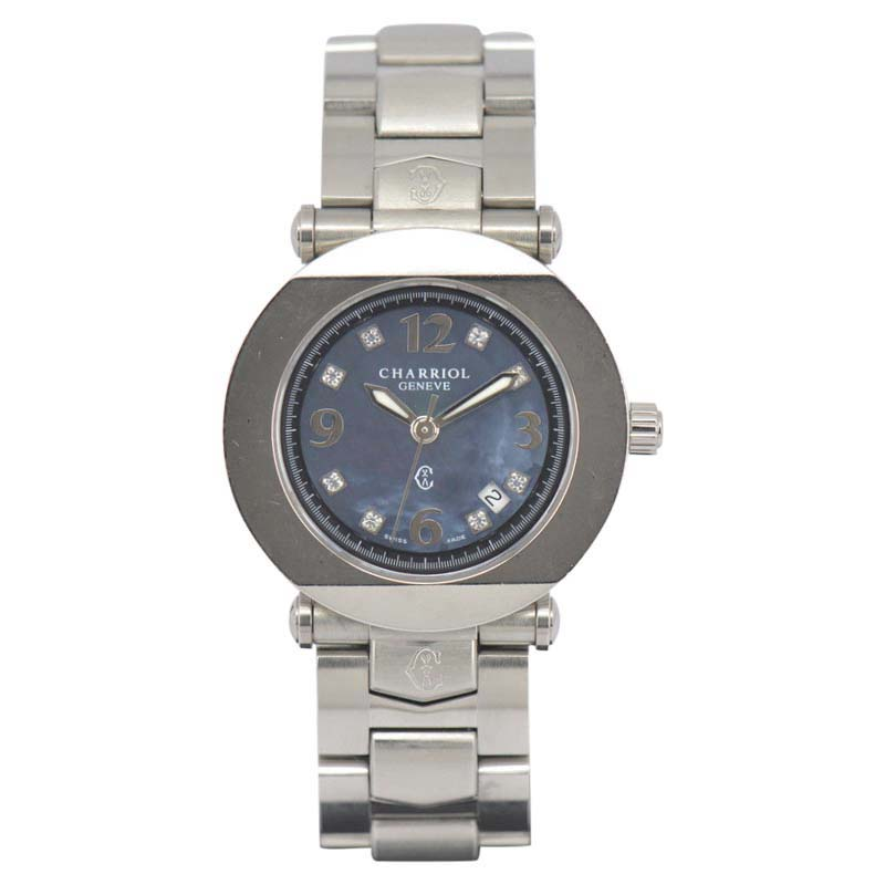 """Image of """"Charriol Colvmbvs Ccr30.1 8P Stainless Steel with 8P Diamond Quartz"""""""