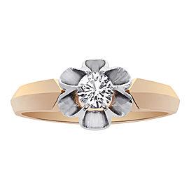 14K Rose Gold 0.45ct Round Cut Diamond Engagement Ring Size 8