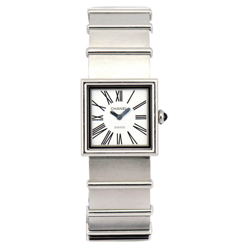 """Image of """"Chanel Mademoiselle Stainless Steel & White Dial Quartz 22.5mm Womens"""""""