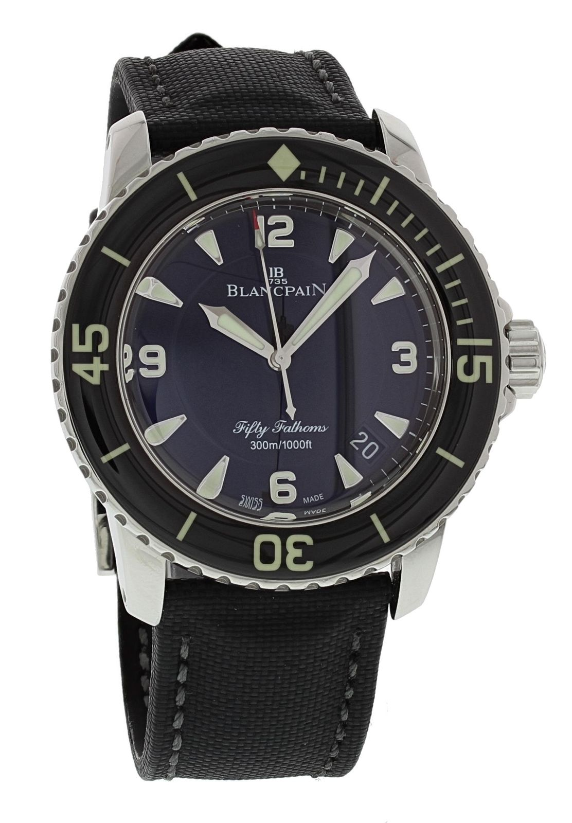 "Image of ""Blancpain Fifty Fathoms 5015-1130-52B Automatic Stainless Steel 45mm"""