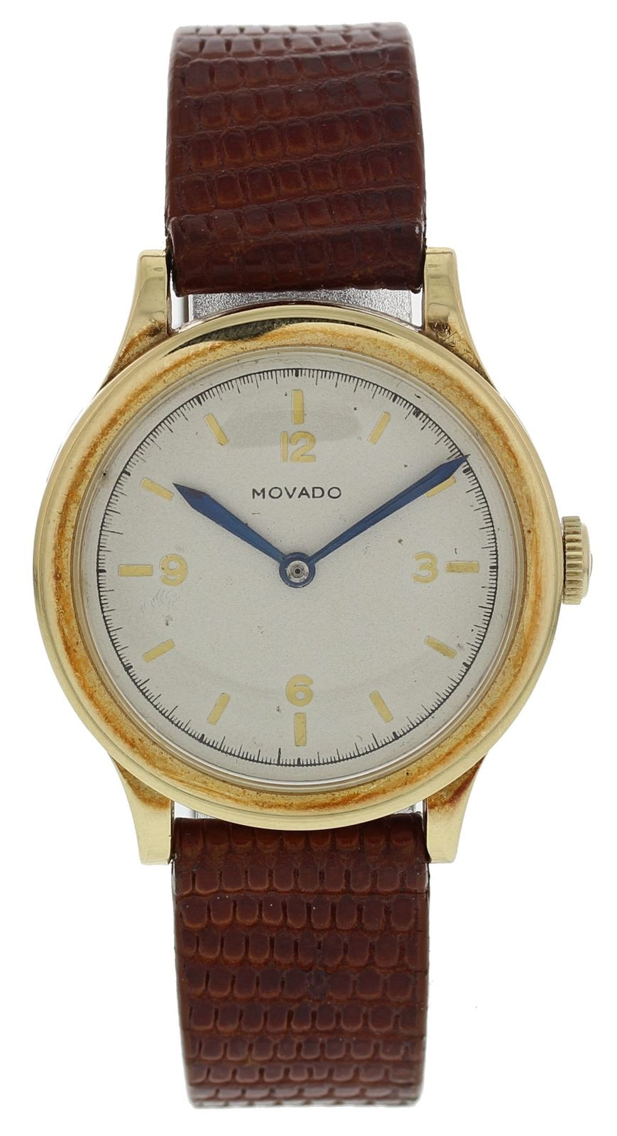 "Image of ""Movado Gold Toned Stainless Steel Mechanical 30mm Unisex Vintage Watch"""
