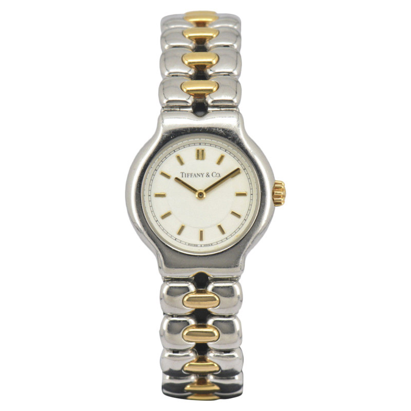 "Image of ""Tiffany & Co. Tesoro L0112 Stainless Steel / 18K Yellow Gold 24mm"""